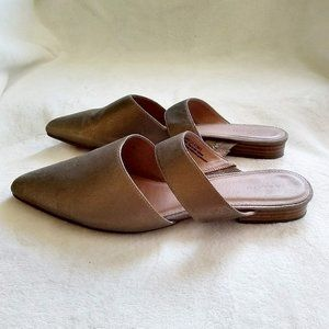 Caslon Jaxon Mule Slide Bronze Leather Pointy Toe